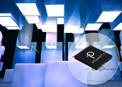 Power Integrations推出LYTSwitch-6 LED驱动器IC,可实现高效率和极低待机功率 (图示:美国商业资讯)