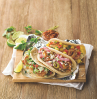 Taco Cabana Loaded Grilled Shrimp Tacos: Piña, Diabla, and Rancho. (Photo: Business Wire)