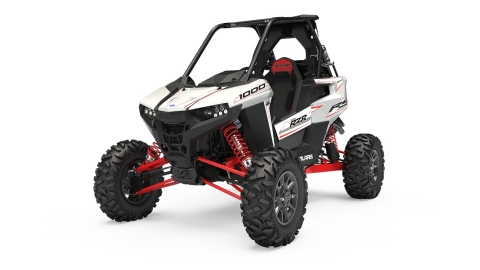 All-new, center-cockpit Polaris RZR RS1 in White Lightning. Polaris' most agile RZR ever built features a 110-HP ProStar 1000 H.O. 4-Stroke DOHC Twin Cylinder that delivers a unique combination of power and precision. Available now and starting at just $13,999. (Photo: Polaris)