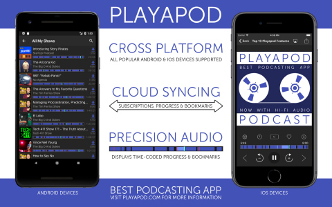 TMSOFT today releases Playapod, a new cross-platform mobile application that syncs podcasts to the cloud, allowing for immediate playback across all devices. (Photo: Business Wire)