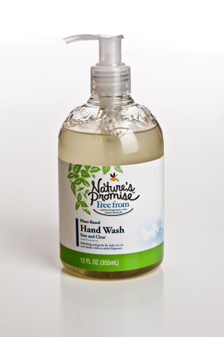 Amcor partnered with Greenblendz, a Michigan-based co-packer and developer of private label, environmentally-friendly consumer products, to develop and commercialize packaging for the Nature's Promise™ brand of hand soap. (Photo: Amcor)