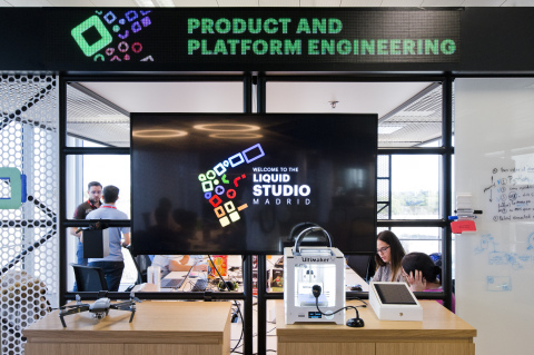 The product and platform engineering space at the Liquid Studio in Madrid (Photo: Business Wire)