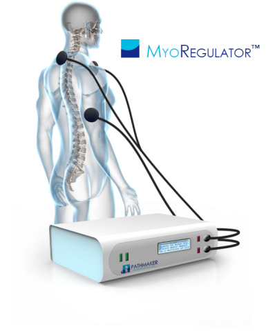 PathMaker Neurosystem's MyoRegulator™ - a potential breakthrough, non-invasive treatment for muscle spasticity (Photo: Business Wire)
