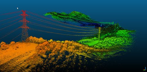 Powerlines & corridor mapping project in Spain - Acquisition made with the YellowScan Surveyor and the DroneQuad4 from Dronetools (Photo: Business Wire)