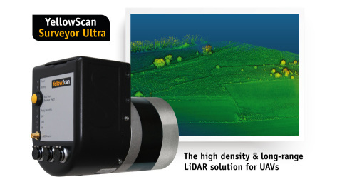 At the International LiDAR Mapping Forum (ILMF) this week, YellowScan will showcase the new Surveyor Ultra system, integrating Velodyne's VLP 32C Sensor and the Applanix APX-15 IMU. (Photo: Business Wire)