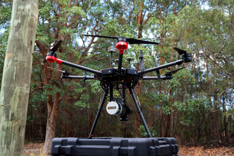 YellowScan Surveyor on the Matrcie 600 Pro from DJI (Photo: Business Wire)