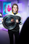 """Sasha """"Scarlett"""" Hostyn wins Intel Extreme Masters PyeongChang esports competition on Wednesday, Feb. 7, 2018, in PyeongChang, South Korea. The event takes place ahead of the Olympic Winter Games 2018. (Credit: Intel/ESL)"""