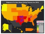 Walgreens Flu Index for Week Ending February 3, 2018 (Photo: Business Wire)