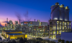 A night view of Jiaxing Petrochemical's second PTA line. (Photo: Business Wire)