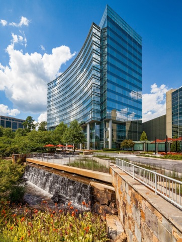 Arby's Restaurant Group will move their headquarters next year to 161,000 square feet at Three Glenlake, part of the One and Three Glenlake campus owned by Columbia Property Trust in Atlanta's Central Perimeter submarket. (Photo: Business Wire)