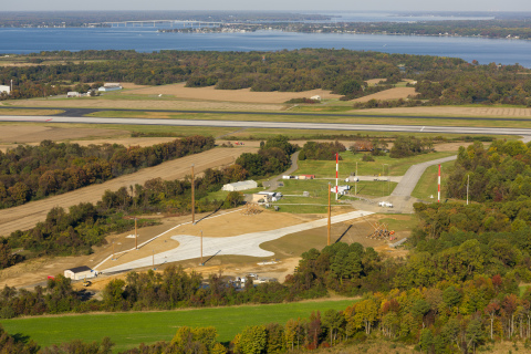 GOLDEN SANDS GENERAL CONTRACTORS COMPLETES VERTICAL ELECTROMAGNETIC PULSE SIMULATOR AT THE NAVAL AIR STATION, PATUXENT RIVER, MARYLAND (NAVAIR Public Release 2018-46-Approved for public release; distribution is unlimited) (Photo: Business Wire)