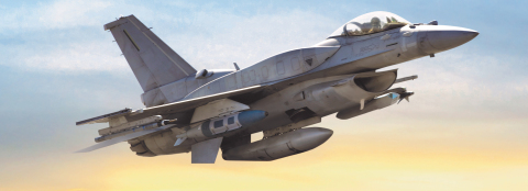 BAE Systems will modernize head-up displays on F-16 aircraft for the United Arab Emirates, using the company's Digital Light Engine technology. (Photo: BAE Systems)