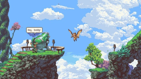 Overcome great obstacles and even greater enemies when Owlboy launches on Feb. 13. (Graphic: Business Wire)