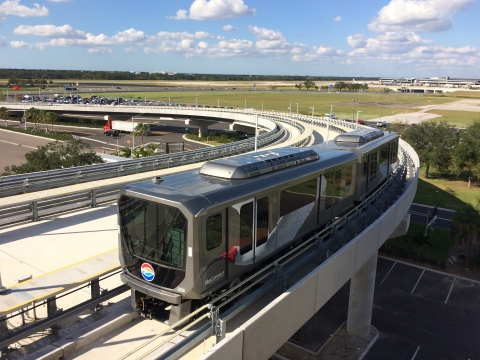 "Tampa International Airport ""Crystal Mover"" APM (Photo: Business Wire)"