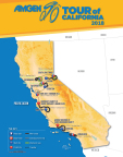 Amgen Tour of California 2018 Race Routes (Graphic: Business Wire)