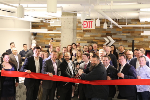 Special guest Major General Matthews USAF (ret) and representatives from the office of Congressman Gerry Connolly (VA-11), alongside Verodin CEO Chris Key, COO Ben Cianciaruso and other team members at the office opening (Photo: Business Wire)