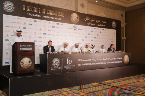 Abu Dhabi World Professional Jiu-Jitsu Championship 2018 press conference (Photo: AETOSWire)