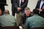 Governor John Hickenlooper coaches a Defy Entrepreneur in Training (EIT) at Arkansas Valley Correctional Facility in Ordway, CO. (Photo: Business Wire)