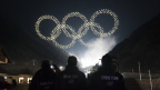 The Intel drone light show team produces the Olympic Winter Games PyeongChang 2018 Opening Ceremony drone light show, featuring Intel Shooting Star drones. (Credit: Intel Corporation)