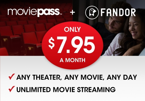 MoviePass (TM) and Fandor (R) launch bundled $7.95 per month annual Plan, a savings of over $120. (Photo: Business Wire)