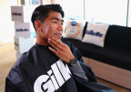 Korean tennis star Hyeon Chung freshens up his style with Gillette at the P&G Family Home while in PyeongChang to watch the Olympic Winter Games. (Photo: Business Wire)