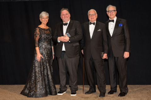 USC Libraries Dean Catherine Quinlan, Scripter winners Bruce Miller and James Ivory, Selection Committee Chair Howard Rodman (Photo: Business Wire)