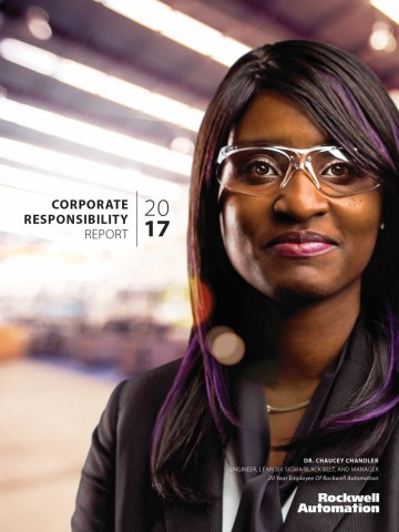 Rockwell Automation 2018 Corporate Responsibility Report Cover (Photo: Business Wire)