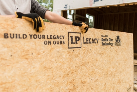 LP Legacy® sub-flooring uses Gorilla Glue Technology® for one of the industry's strongest, stiffest sub-floors. It's technology that homebuyers easily understand and value. (Photo: Business Wire)