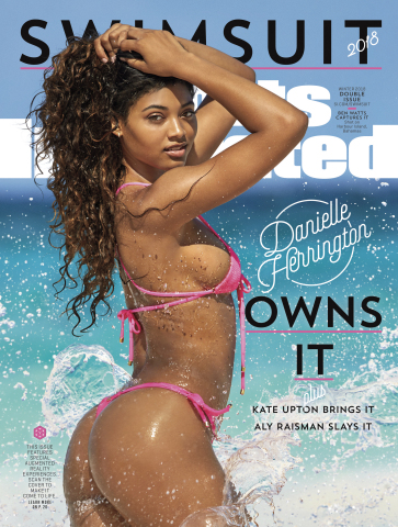 SI Swimsuit 2018 cover featuring Danielle Herrington. CREDIT Ben Watts/SPORTS ILLUSTRATED