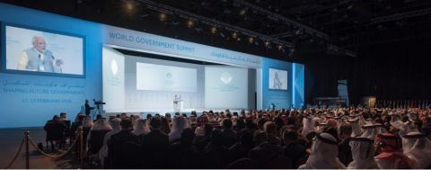 Indian Prime Minister Narendra Modi addresses the sixth edition of World Government Summit in Dubai (Photo: AETOSWire)
