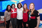 P&G athletes join together for an important discussion about not letting gender become an obstacle to achieving their dreams in a panel hosted by Olympian and retired figure skater Michelle Kwan at the P&G Family Home during the Olympic Winter Games PyeongChang 2018. (Photo: Business Wire)