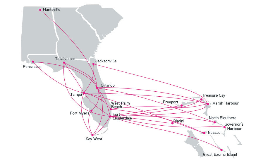 Silver Airways Route Map Silver Airways Announces New Daily Nonstop Service Between Orlando
