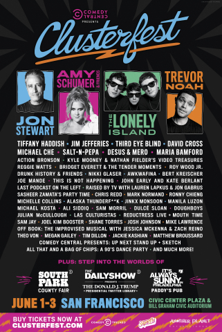 Comedy Central Presents Clusterfest - 2018 Talent Line Up (Photo: Business Wire)