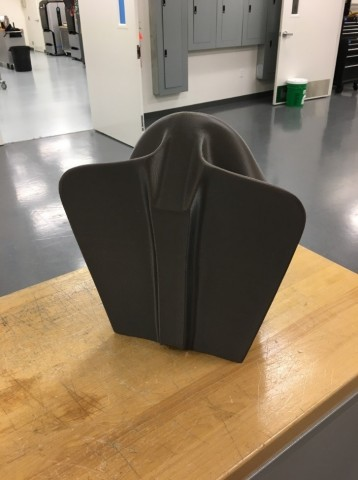 """Image of the """"Doubles Tower"""" mandrel, 3D printed with Stratasys ST-130 sacrificial wash-out material (Photo: Business Wire)"""