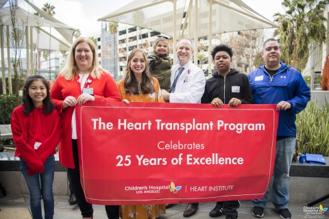 Children's Hospital Los Angeles Heart Transplant Program Celebrates 25th Anniversary (Photo: Business Wire)