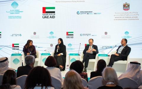 Her Excellency Reem bint Ebrahim Al Hashimi, UAE Minister of State for International Cooperation, sp ...
