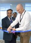 Sachin Verma, Managing Director, Oreta (left) inaugurates the Microland Oreta Digital Operations Centre in Bangalore (Photo: Business Wire)