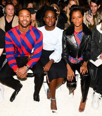 The front row at the Fall 2018 CALVIN KLEIN 205W39NYC runway show last night in New York