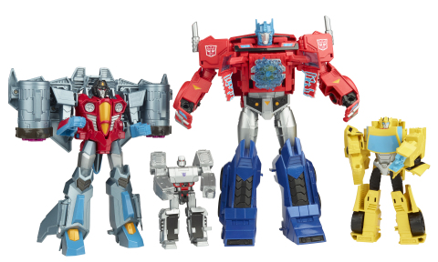 TRANSFORMERS CYBERVERSE SCOUT, WARRIOR, ULTRA AND ULTIMATE CLASS Figures (HASBRO/Ages 6 years & up/ Approx. Retail Price: $19.99/Available: Summer 2018) (Photo: Business Wire)