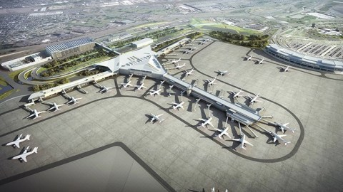 Rendering of New Terminal One at Newark Liberty International Airport (Credit: The Port Authority of ...