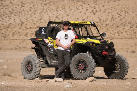 Mitch Guthrie Jr. recently won the King of the Hammers UTV race with the new KMC XS235 Beadlock Grenade wheels. (Photo: Business Wire)