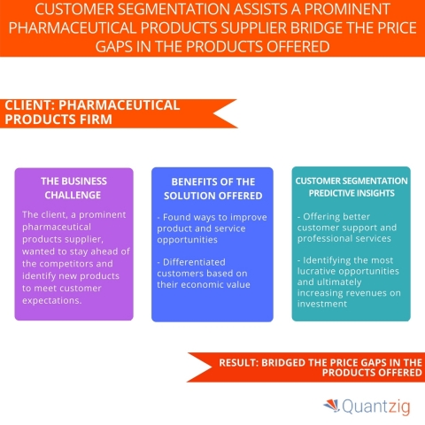 Quantzig's Customer Segmentation Assists a Prominent Pharmaceutical Products Supplier bridge the Price Gaps in the Products Offered (Graphic: Business Wire)
