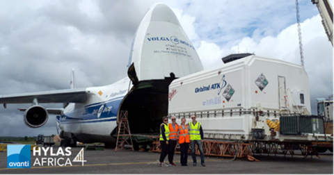 Avanti Communications HYLAS 4 Satellite Arrives in French Guiana (Photo: Business Wire)