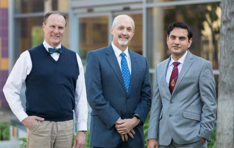 (Left to Right) Douglas Nordli, Jr., MD; Robert E. Shaddy, MD; Rohit Kohli, MBBS, MS. (Photo: Children's Hospital Los Angeles)