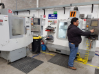 Ruben Fuentes, technician, works on the CNC Machine at the Chihuahua, Mexico, SpotSee facility. (Photo: Business Wire)