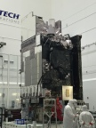 The Harris Corporation Advanced Baseline Imager (ABI) is shown here at the top of the GOES-S weather satellite, which is scheduled to launch March 1. (Photo: Business Wire)