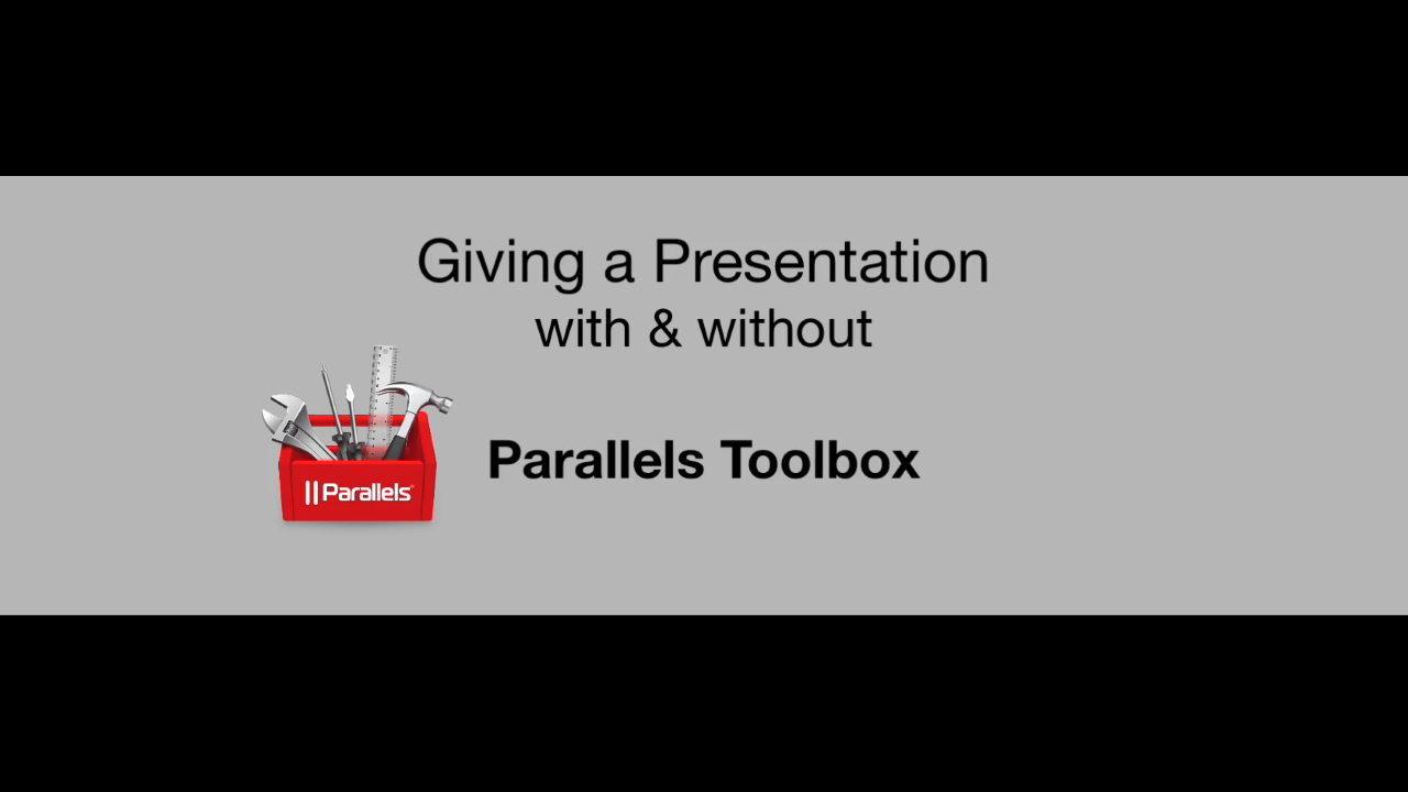 How Mac users can avoid embarrassing presentation disruptions, in just two clicks, with Parallels Toolbox for Mac.