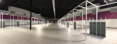 This vault at RagingWire's CA3 Data Center, designed for large scale cloud and enterprise deployments, is now available with power that is 100% renewable and 100% available, with 40% cost savings compared to rates in the Bay Area and Silicon Valley. (Photo: RagingWire Data Centers, Inc.)