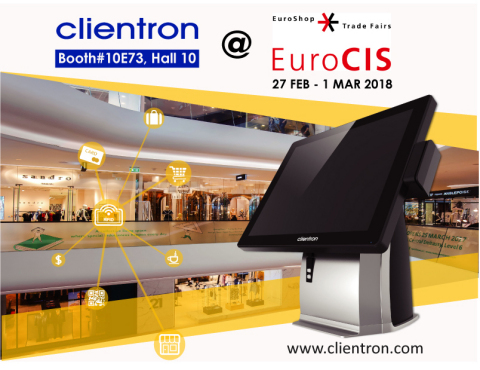 Clientron presenta a EuroCIS 2018 le sue novità nel settore POS
