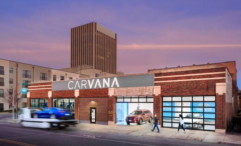 Carvana has launched its newest customer pickup experience, Carvana Curbside, in Birmingham, Ala. (Photo: Business Wire)